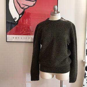 Steven Alan Olive Green Wool Sweater